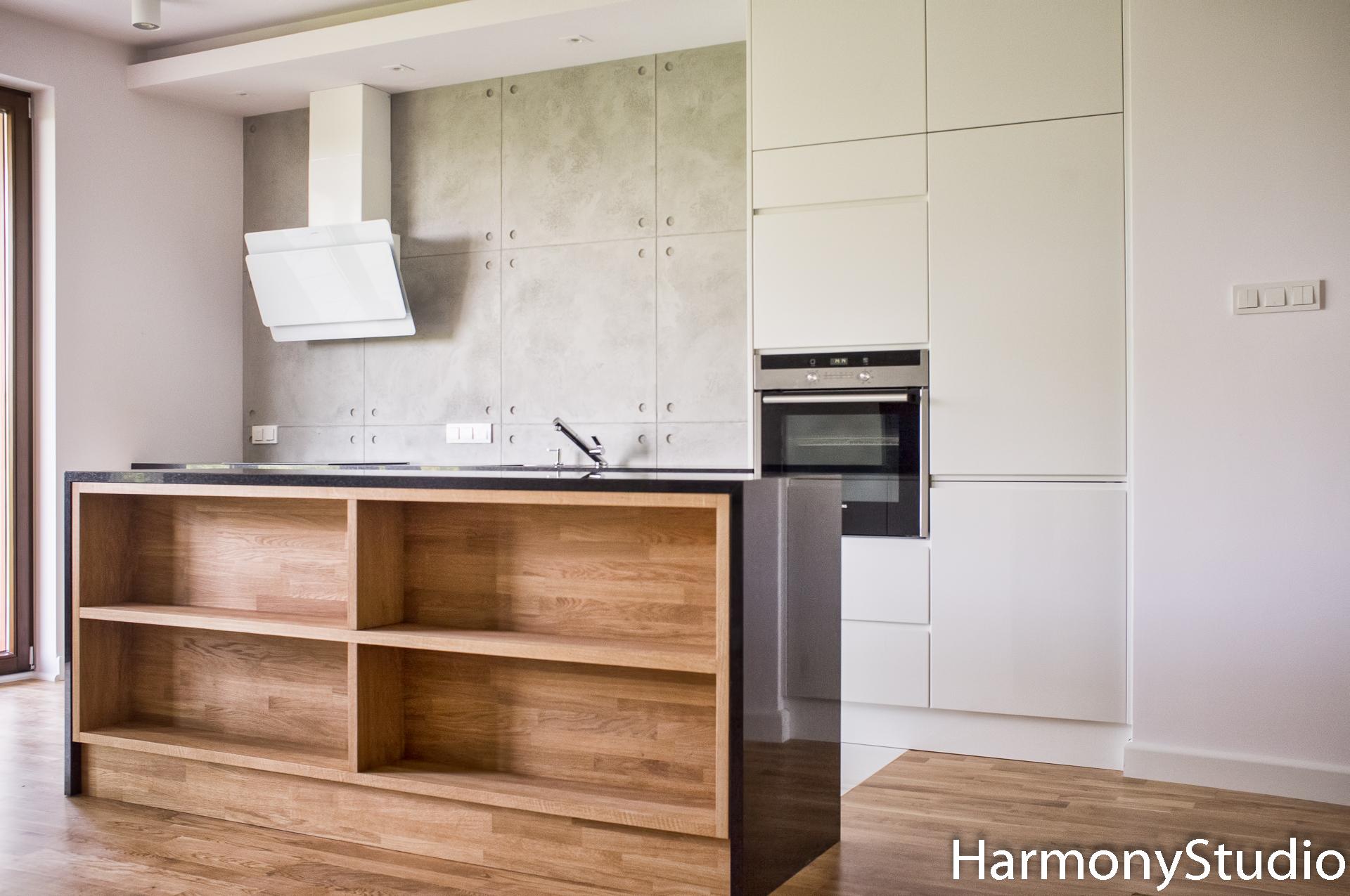Kuchnia Biala Z Wyspa Harmony Studio