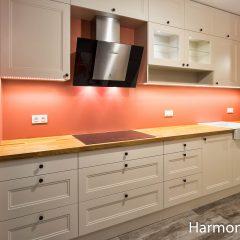 Kuchnia Kremowa Blat Drewniany Harmony Studio