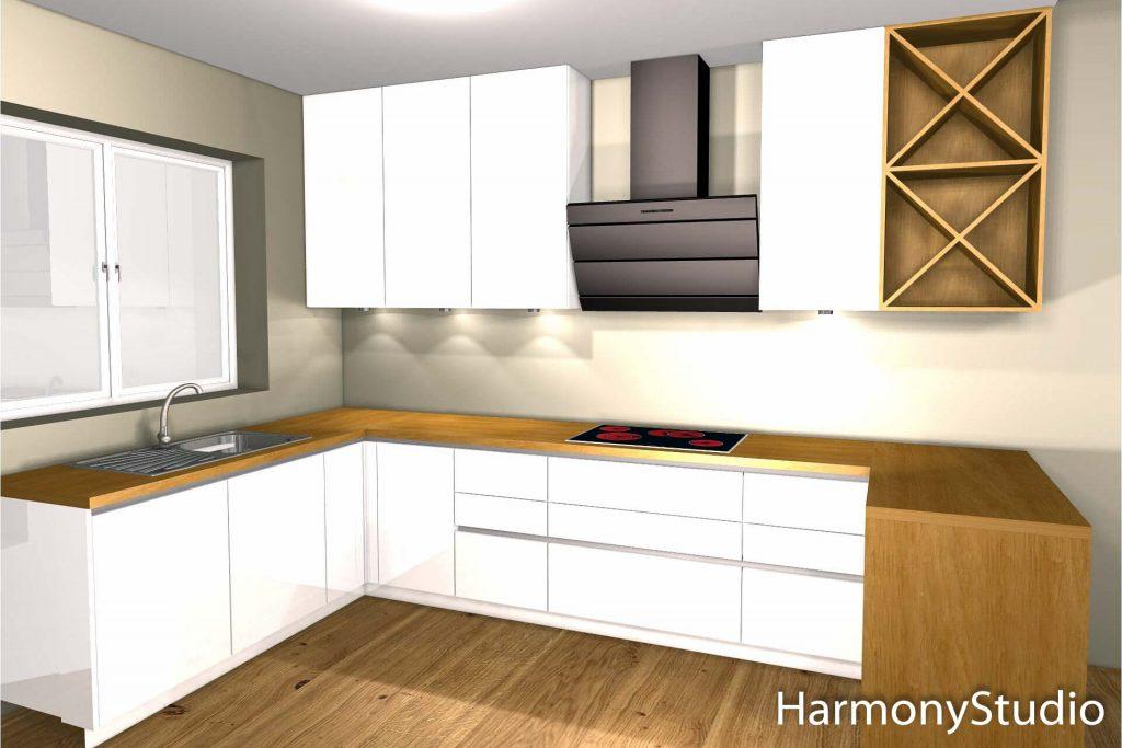 projekt kuchni na wymiar przykład wizualizacji