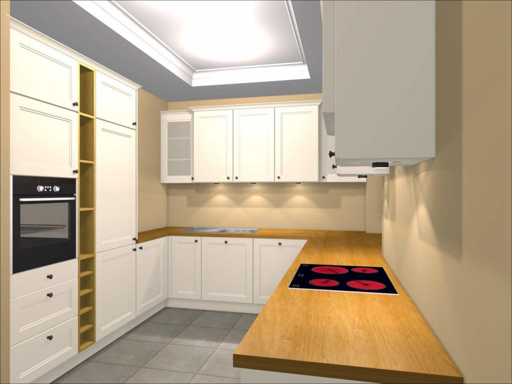 projekt kuchni w kształcie L