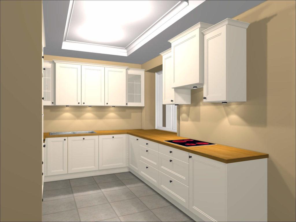 projekt i wizualizacja zabudowy kuchni